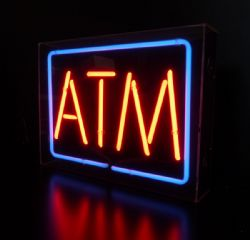 ATM Neon Sign